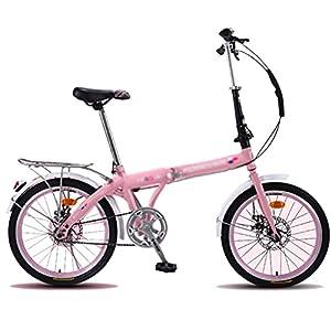 41Urm0Q8FRL. SS300 Biciclette Pieghevole da 20 Pollici Adulti Leggera Studenti Bici da Strada Freno A Doppio Disco Meccanico