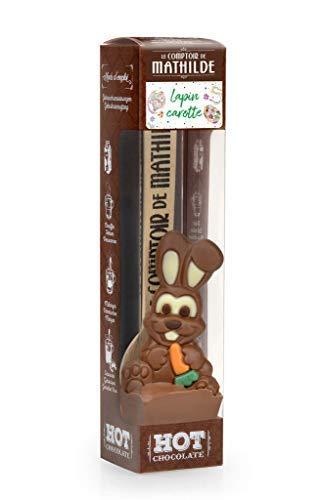 Le Comptoir de Mathilde Conejo de Pascua con Zanahoria para Chocolate Caliente en Taza, 1 x 30 gramos