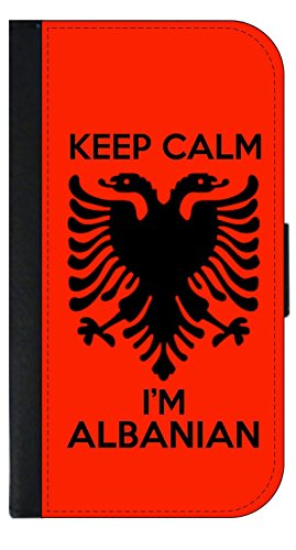 Keep Calm I'm Albanian - Phone Case Compatible with the Samsung Galaxy s9 - Wallet Style with Card Slots