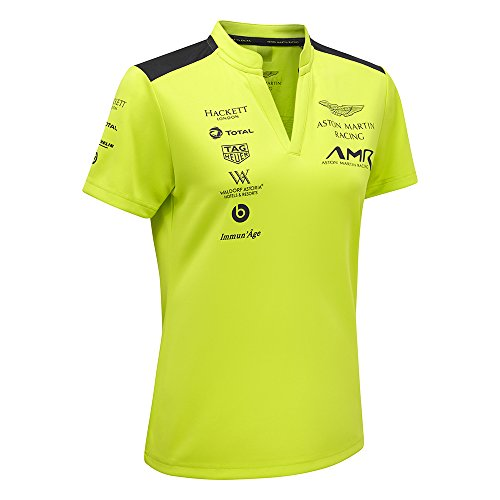 Aston Martin 2018 Racing Team Damen Poloshirt, Grün, Größen XS-XL, lindgrün, Ladies (XL) UK 16 (42-44 inches)