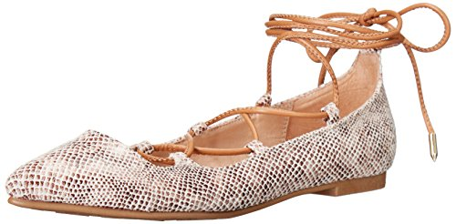 Chinese Laundry Women's Endless Summer Ghillie Flat, Natural Snake, 8 M US