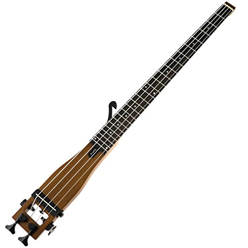 Bass Guitar,Anygig Portable Backpacker Travel Guitar 4 Strings 34 inches Scale 2 Way Truss Rod Black
