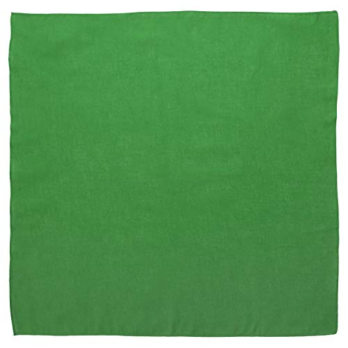 "Large 100% Cotton Solid Color Blank Bandanas (22"" x 22"") - Kelly Green Single Piece 22x22 - For Custom Printing, Handkerchief, Headband, Head Scarf - Double Sided Blank Color"