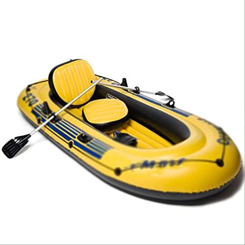 PZJ-Schlauchboote für Erwachsene 5 Personen, aufblasbares Boot für Kinder, Angelboote, Kajaktouren geeignet für Schwimmbad, Angeln usw.