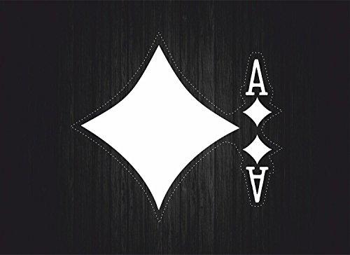 Akachafactory Sticker Auto Chip Poker Tafel Casino Spellen Karo C
