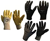 GermanV Juego de 3 pares de guantes de trabajo para taller, pintor, renovación, manualidades, (8 (M))