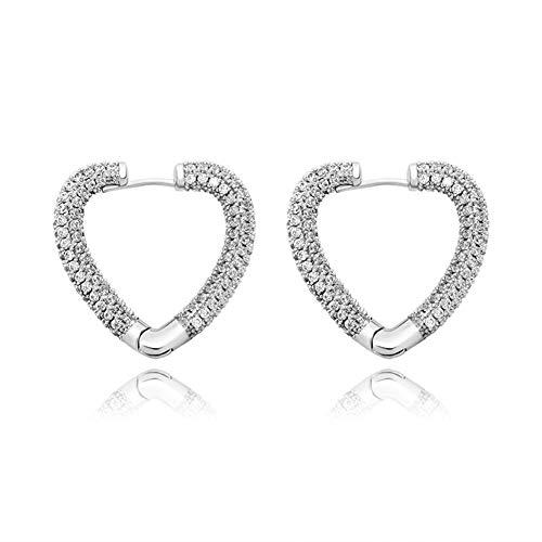 Cakunmik Love Earrings Personalized And Versatile Fashion Earrings Hip-Hop Fashion Women's Earrings Valentine's Day, C