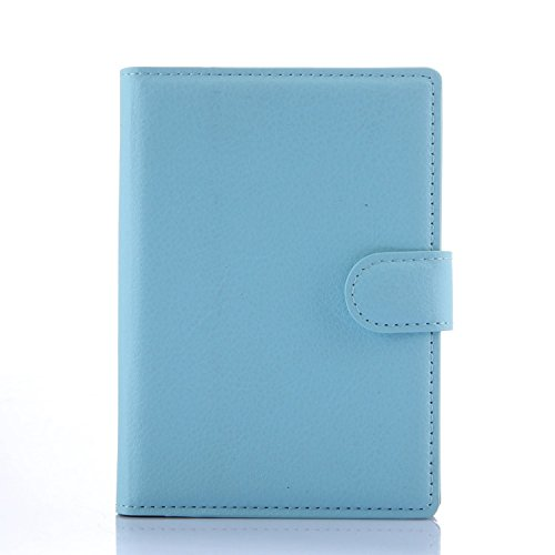 Tasche für BlackBerry Passport (Q30) Hülle, Ycloud PU Ledertasche Flip Cover Wallet Case Handyhülle mit Stand Function Credit Card Slots Bookstyle Purse Design blau