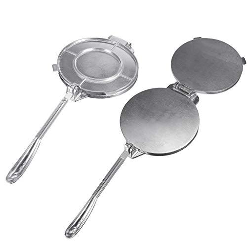 Haptian 7.87in/20cm Tortilla Maker Druk Heavy Duty Restaurant Kitcken Zilver Deeg Thuis
