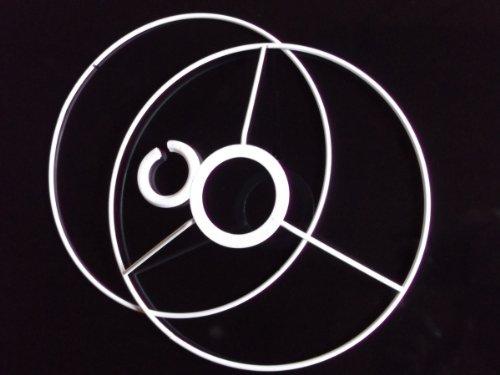 Lampenschirm-Ring-Set, Rund, für E14 & E27, weiß, Ø 20 cm