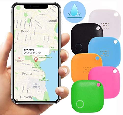 Key Finder, Mini Bluetooth Dispositivos Tracker, perdida anti-chip de GPS, controles remotos, Item Finder perseguidor elegante, teléfono localizador, Pet Tracker. ( Color : White , Talla : 3 Pcs )