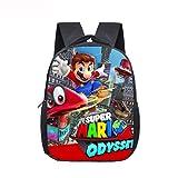 LINGJIA Mochila Super Mary 12 Pulgadas Mario Bros Sonic Kindergarten Infantil Pequeña Mochila para Niños Bebé Cartoon School Bolsas Niños Regalo