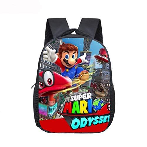 LINGJIA Mochila Super Mary 12 Pulgadas Mario Bros Sonic Kindergarten Infantil Pequeña