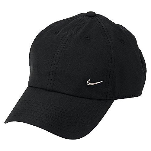 (ナイキ) NIKE 帽子 キャップ Metal Swoosh Cap ブラック シルバー 943092-010
