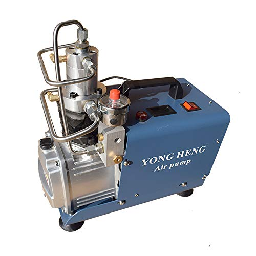 YONG HENG 4500PSI Air Compressor 110V Set Pressure Auto-stop PCP 30 MPa High Pressure System Rifle Inflator PCP Rifle Airgun Scuba Air Pump Portable Air Compressors (Pressure Customized Version)