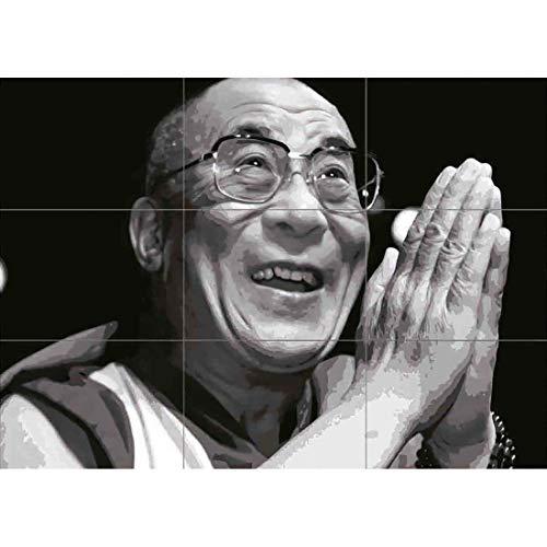 Doppelganger33 LTD Dalai Lama Lhamo Dondrub Wand Kunst Multi Panel Poster drucken 50x35 Zoll