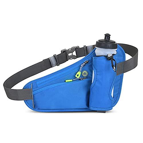 Cinturón de correr botella de agua para mujeres y hombres, paquete de cintura expandible para caminar, sin rebote bolsa de cintura ajustable para corredores, trotar, riñonera reflectante