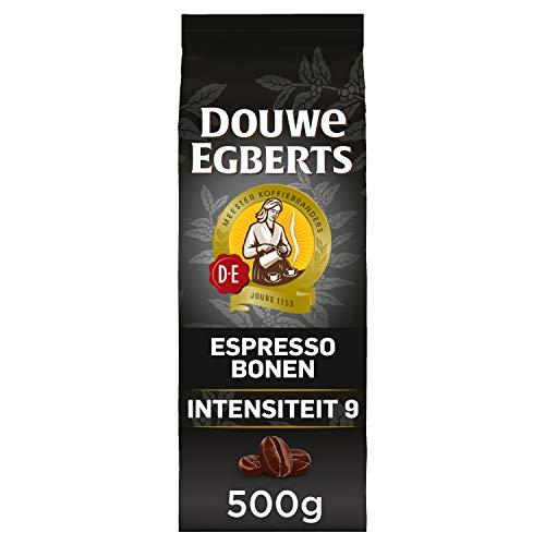 Douwe Egberts Koffiebonen Espresso (2 Kilogram, Intensiteit 09/09, Dark Roast Koffie), 4 x 500 Gram