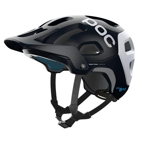 POC Tectal Race Spin casco, Unisex adulto, Unisex adulto, 10511, Nero uranio / Bianco (uranium black/hydrogen white), XS-S/51-54