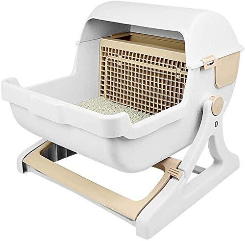 N\A Hermosa Aseo Gato higiénico doméstico Mascotas Suministros de Limpieza de Basura Desodorante Can, semicerrado Repelente de Agua Protección Ambiental Semi-automática (Size : -)