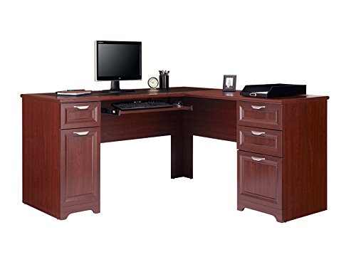 Realspace Magellan Collection LShaped Desk Classic Cherry Item # 475958