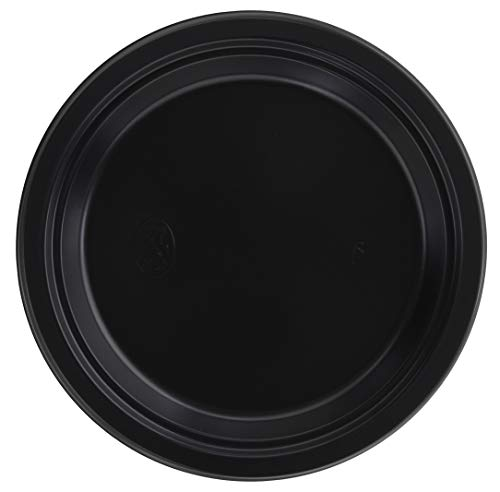 RAGO Plastikteller 50 Stück, Deluxe EINWEG Teller aus Plastik, 24cm Groß – Schwarz