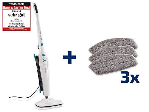Leifheit CleanTenso Stoomreiniger, stoomreiniger voor een poriëndiepe reiniging, stoommop vervanging met klittenband onderkant