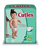 First Quality Baby Diaper Cuties Tab Closure Size 5 Disposable Heavy Absorbency (#CR5001, Sold Per Case)