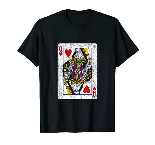 Spielkarte Herz-Dame T-Shirt