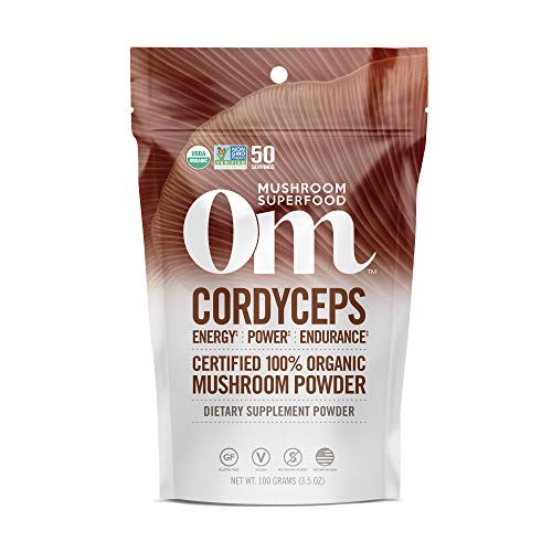 Om Organic Mushroom Supplement, Cordyceps, 100 Gram