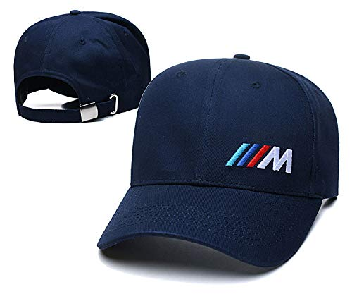 Ruijiesales Fit BMW-M Navy Hat Embroidery Car Logo for Man Women Adjustable Baseball Cap