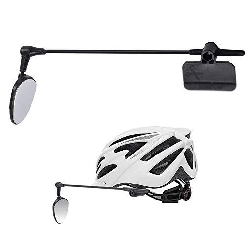 ZHIRCEKE Fahrradhelm Rückspiegel, Bike Safe Riding Mirror, 360 Grad verstellbar drehbar, fest fixiert, für Radfahren,Spiegel Mountainbike Universal