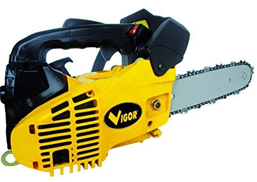 Vigor 4512825 BMS-2500 Motosega, 25.4 cc, Giallo/Nero, 800 W
