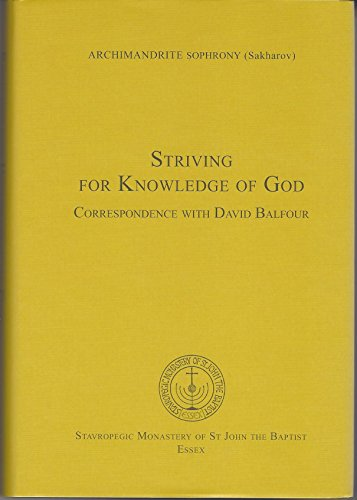 Striving for Knowledge of God: Correspondence with David Balfour