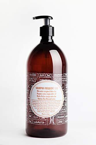 """ricaricando 1 Liter Refill BIO Olivenölshampoo """"Frequent use"""" für normales bis trockenes Haar mit nativem Bio-Olivenöl und Inulin, zertifizierte Naturkosmetik, ohne Silikone, vegan"""