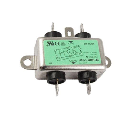 sourcingmap Metal garde 6A AC 115/250V JR-L006-N pouvoir ligne filtre