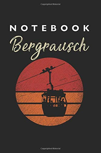Bergrausch Notebook: Lined College Ruled Notebook (9x6 inches, 120 pages): For School, Notes, Drawing, and Journaling