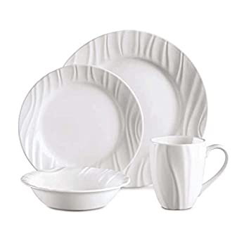 Corelle Boutique Swept Embossed 16-pc Dinnerware Set