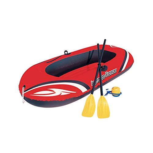 K2 Kayak - Juego de Kayak Inflable para 2 Personas con Bote Inflable, Dos Remos de Aluminio Y Bomba de Pie Neumática de Alto Rendimiento - El Pescador Y El Recreativo Se Sientan en El Kayak
