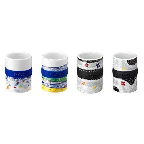 PO: DESIGN - Barcelona series - Set of 4 Espresso Porzellantassen 60ml