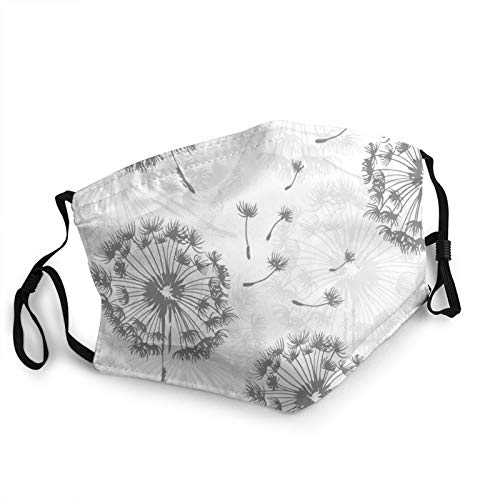 Dandelion Nature Reusable Face Mask,Balaclava Washable Outdoor Nose Mouth Cover Fashion For Unisex Men Women
