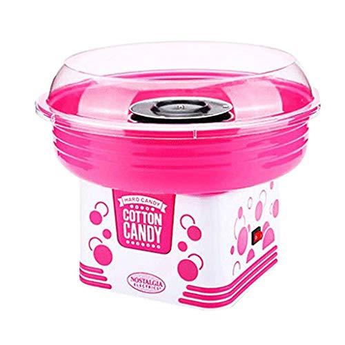 Machine à Barbe à Papa, Enfants Mini Portable Floss Faisant la Machine Nostalgie électrique Sugar Maker de Coton pour Le Carnaval Party Party Cadeau Roscloud@ (Couleur : Pink)