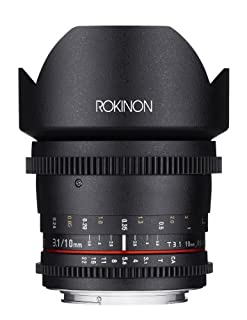 Rokinon CV10M-E 10mm T3.1 ED AS NCS CS Cine Wide Angle Lens for Sony E-Mount-NEX Cameras with De-Clicked Aperture and Follow Focus Compatibility, Black (B00K3T3MDK) | Amazon price tracker / tracking, Amazon price history charts, Amazon price watches, Amazon price drop alerts