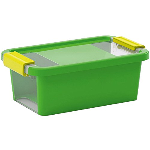 KIS Aufbewahrungsbox Bi Box 3 Liter in grün-transparent, Plastik, 16x26.5x10 cm
