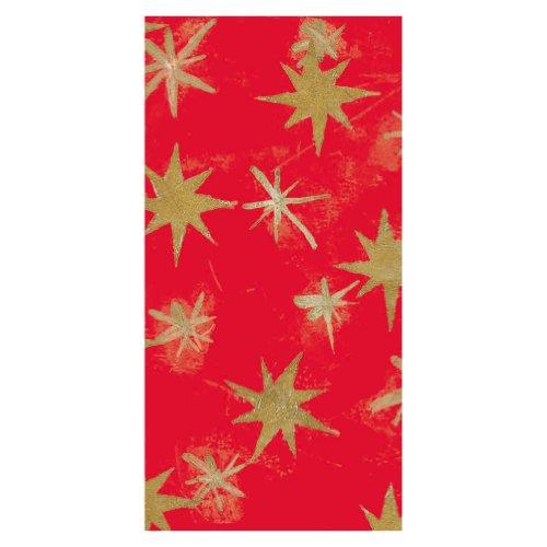 Susy Card 11268513 - Mantel de papel, diseño de estrellas, color rojo (120 x 180mm)