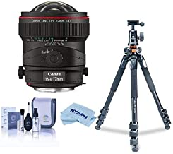 Canon TS-E 17mm f/4L Tilt-Shift Manual Focusing Lens for EOS - U.S.A. Warranty - Bundle with Vanguard Alta Pro 264TBH Tripod and TBH-100 Head with Arca-Swiss QR Plate, Cleaning Kit, Microfiber Cloth
