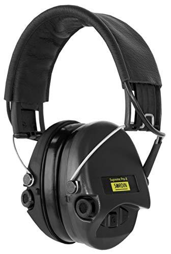 Sordin Supreme Pro X Casques Antibruit Électroniques à Forte Atténuation - SOR75302-X/L-02 - Protection Auditive - Coques d'oreilles Noires