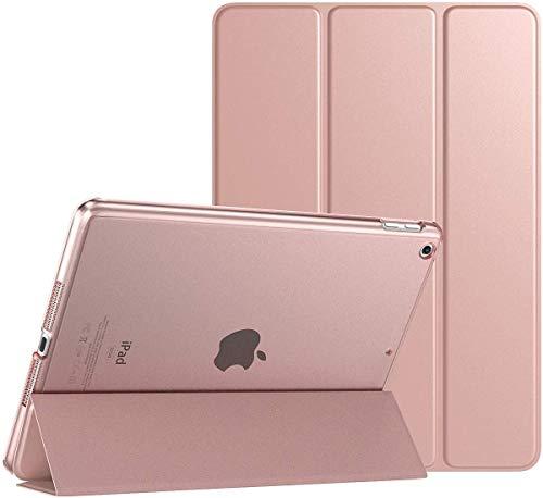 Protective Smart Cover Case Slim Translucent Auto Wake Sleep for New Apple iPad Pro 10.5, Apple iPad Air 3, Apple iPad 10.2 7th Generation, Apple iPad 10.2 8th Generation (Rose Gold)
