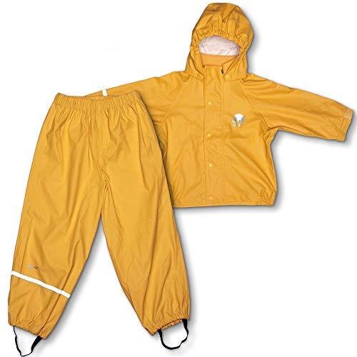 CeLaVi Mädchen CeLaVi zweiteiliger Regenanzug in vielen Farben Regenjacke,,per pack Gelb (Mineral Yellow 372),(Herstellergröße:100)
