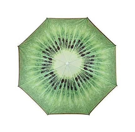 Meinposten Sonnenschirm Ø 155 cm Strandschirm knickbar Schirm Balkonschirm Gartenschirm (Kiwi)